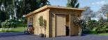 Garaje de madera MODERN de techo plano (44 mm), 4x6 m, 24 m² visualization 2