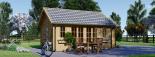 Cabaña de madera para jardín ELLA (66 mm), 28 m² visualization 7