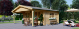 Cabaña de madera para jardín CAMILA (44 mm), 6x4 m, 24 m² visualization 1