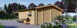 Caseta de jardín OLIVIA 36 m² (6x6) 44 mm visualization 5