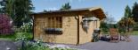 Cabaña de madera para jardín LILLE 25 m² (34 mm), 5x5 m, 25 m² visualization 6