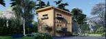 Casa de jardín AVIGNON de tejado plano (44 mm), 20 m² de dos plantas visualization 1