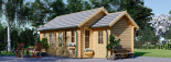 Cabaña de madera para jardín ELLA (44 mm), 28 m² visualization 2