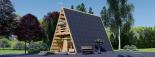 Caseta de madera TIPI, 4.5x7 m, 23 m² visualization 2