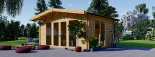 Caseta de jardín MARTA 20 m² (5x4) 66 mm visualization 1