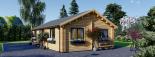 Casa de madera GRETA 44+44 mm, 54 m² visualization 8