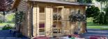 Caseta de jardín ALABAMA 20 m² (4,5x4,5) 44 mm visualization 7
