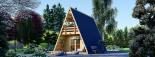 Caseta de madera TIPI, 4.5x7 m, 23 m² visualization 1