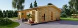 Casa de madera para jardín MILA (44 mm), 56 m² visualization 2