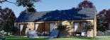 Casa de madera ADA (44 mm + revestimiento), 50 m² visualization 5