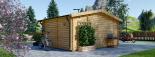 Caseta de madera NINA (44 mm), 6x6 m, 36 m² visualization 5