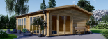 Casa de madera para jardín MARINA (44 mm), 48 m² visualization 7