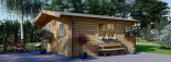 Cabaña de madera para jardín DREUX (44 mm), 5x5 m, 25 m² visualization 2