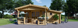 Caseta de jardín ISLA 18m² + porche (2x4) 66mm visualization 2