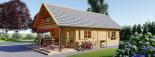 Casa de madera AURA (44+44 mm), 72 m² visualization 5