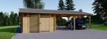 Garaje de madera (44 mm), 4x6 m + Cochera doble 5.5x6 m, 57 m² visualization 2