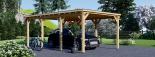 Cochera de madera Modern 300x600 18 m² visualization 1