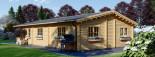 Casa de madera JULIA (66 mm), 103 m² visualization 5