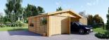Garaje de madera doble (44 mm), 6x6 m, 36 m² visualization 2