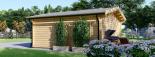Caseta de madera MIA (44 mm), 5.5x5.5 m, 30 m² visualization 5
