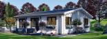 Casa de madera para vivir ALICE (44+44 mm, aislada PLUS), 72 m² visualization 5