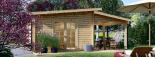 Caseta de madera HELEN (44 mm), 6x4 m, 24 m² + 12,5 m² porche visualization 6