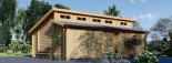 Garaje de madera DOBLE TWIN (44 mm), 8x6 m, 48 m² visualization 1