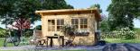 Caseta de jardin LILLE con tejado plano 12 m² (4x3) 34 mm visualization 6