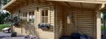 Cabaña de madera para jardín CLARA (66 mm), 28 m² visualization 7