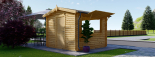 Chiringuito de madera (44 mm), 4x4 m, 16 m² visualization 4