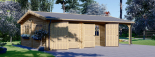 Garaje de madera double 595x595 44 mm + Cochera 300x595, 54 m² visualization 4