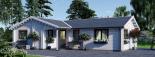 Casa de madera ADELE (44+44 mm), 68 m² visualization 6