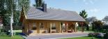 Casa de madera AURA (44+44 mm), 72 m² visualization 7
