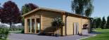Casa de madera para jardín MARINA (44 mm), 48 m² visualization 6