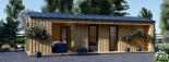 Casa de jardín ANNA SCANDINAVIA (44 mm + revestimiento) , 37 m² visualization 2