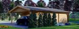 Garaje de madera double 595x595 44 mm + Cochera 300x595, 54 m² visualization 7