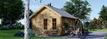 Cabaña de madera para jardín ELLA (66 mm), 28 m² visualization 6