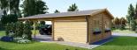 Garaje de madera 400x595 44 mm + Cochera Double 550x595, 57 m² visualization 7