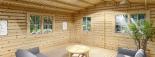 Cabaña de madera para jardín DREUX (44 mm), 5x5 m, 25 m² visualization 7