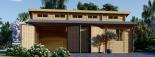 Garaje de madera DOBLE TWIN (44 mm), 8x6 m, 48 m² visualization 4