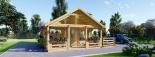 Caseta de madera habitable ANGERS (44+44 mm, aislada PLUS), 36 m² visualization 2