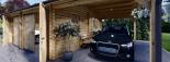 Garaje de madera double 595x595 44 mm + Cochera 300x595, 54 m² visualization 9