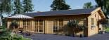 Casa de madera JULIA (66 mm), 103 m² visualization 2