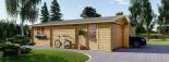 Garaje de madera 600x900 44 mm 54 m² visualization 6