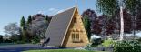 Caseta de madera TIPI, 4.5x7 m, 23 m² visualization 5
