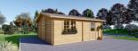 Garaje de madera doble (44 mm), 6x6 m, 36 m² visualization 7