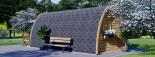 Caseta de madera BRETA (28 mm), 3x6 m, 18 m² visualization 5