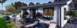 Casa de madera para vivir ALICE (44+44 mm, aislada PLUS), 72 m² visualization 10