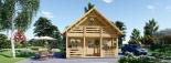 Casa de madera para jardín LIVINGTON 44 mm, 50 m² visualization 3