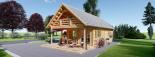 Casa de madera AURA (44+44 mm), 72 m² visualization 4